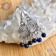 Sodalite Swirl Chandelier Earrings